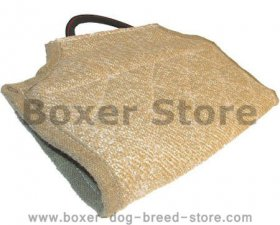 Boxer bite developer protector made of jute with comfy handle