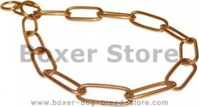 Boxer Curogan Chain Fur Saver Collar - 1/6 inch (4.0 mm)