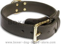 2 Ply Leather Boxer Collar for Agitation/Protection Training