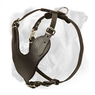 Amazing Leather Dog Harness for Easy, Safe and Comfortable Agitation/Attack Boxer Training