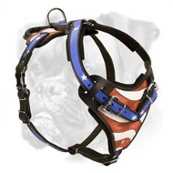 Hand Painted Leather Boxer Harness for Attack/Agitation Training