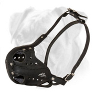 Durable Leather Boxer Muzzle for Agitation/Attack Training