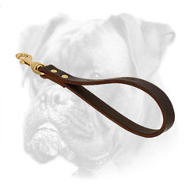 Short Leather Boxer Leash for Better Control