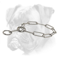Fur Saver Boxer Collar 'Iron Trainer' of Stainless Steel - 1/6 inch (4.0 mm)