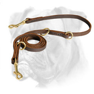 Multifunctional Leather Boxer Leash for Walking and Training
