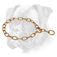 Brass Boxer Fur Saver with Large Links - 1/6 inch (4.0 mm)