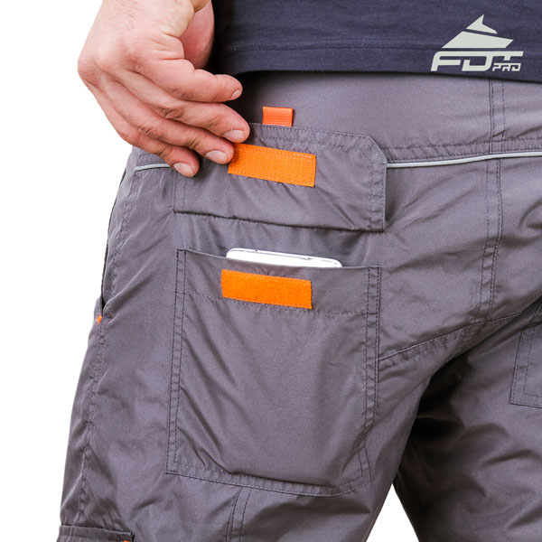 Convenient Design FDT Pro Pants with Durable Side Pockets for Dog Training
