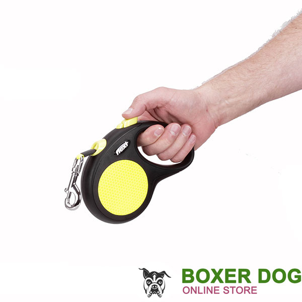Retractable Leash with Reliable Convenient Chrome Plated Snap Hook