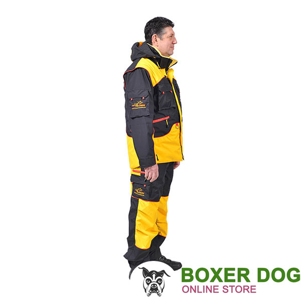 Comfortable Dog Training Bite Suit with Several Pockets