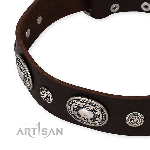 Flexible leather dog collar made for your attractive pet