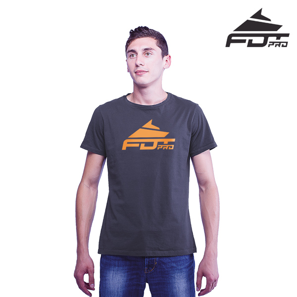 Reliable Cotton Pro Men T-shirt Dark Grey Color