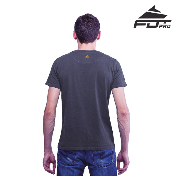 Men T-shirt of Dark Grey FDT Professional for Dog Trainers
