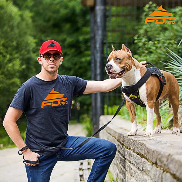 Men T-shirt of Reliable Cotton with FDT Pro Logo for Dog Trainers