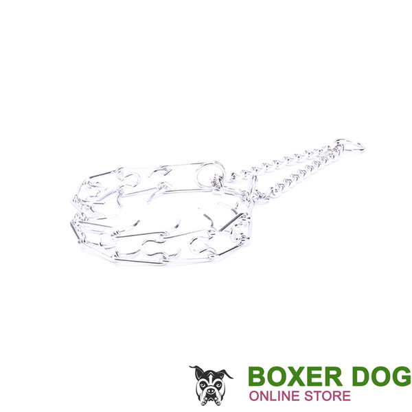 Top quality chrome plated prong collar for training