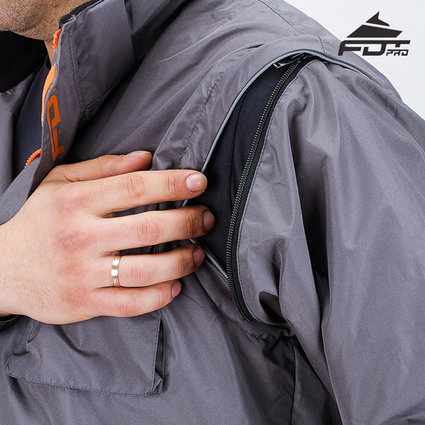 Best quality Zipper on Sleeve for FDT Pro Design Dog Tracking Jacket