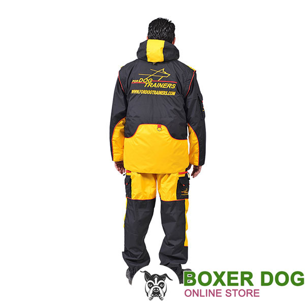 Membrane Material Dog Training Suit with a Few Pockets