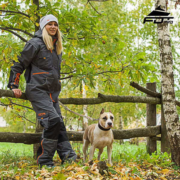 Unisex Design Pants with Convenient Back Pockets for Active Dog Training