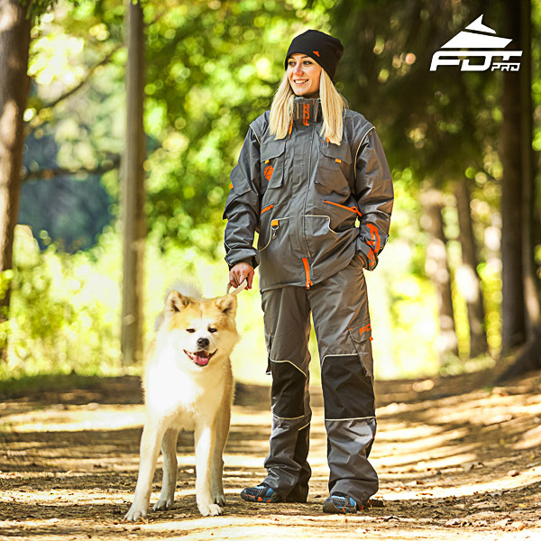 Unisex Design Dog Trainer Jacket of Quality Materials