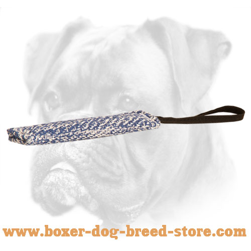 French Linen Boxer Bite Tug for Puppy Training