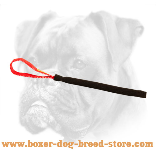 French Linen Dog Bite Tug For Boxer Puppy Training