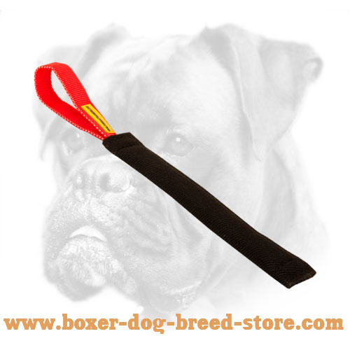 French Linen Dog Bite Tug For Boxer With Handle