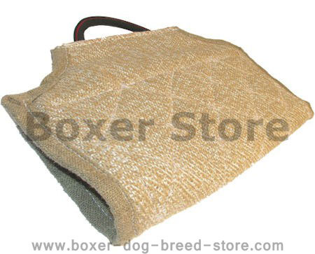 Boxer bite developer cuff made of jute with handle