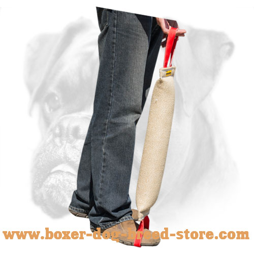 Durable Boxer Bite Tug with Comfortable Handles