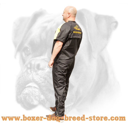 Non-restrictive nylon protection pants with jacket
