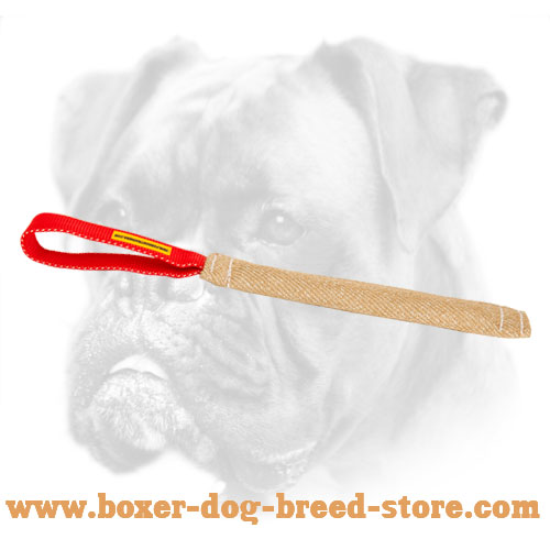 Jute Pocket Toy with 1 Handle for Boxer