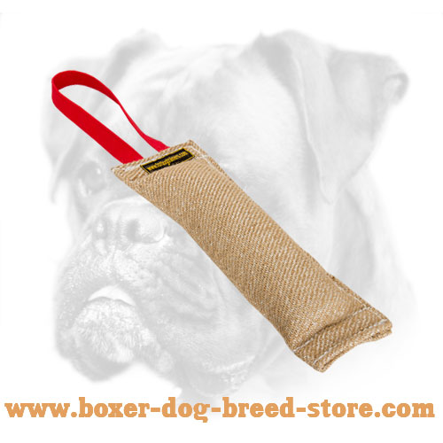 Jute Boxer Bite Tag of Safe Material