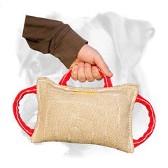 Jute bite pad with three comfy handles for Boxer