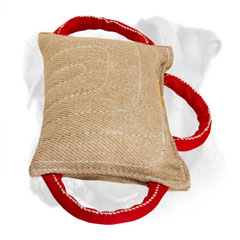 Heavy stuffed Boxer bite pad of jute