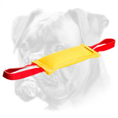 Reliable biting tug for puppy training with handles