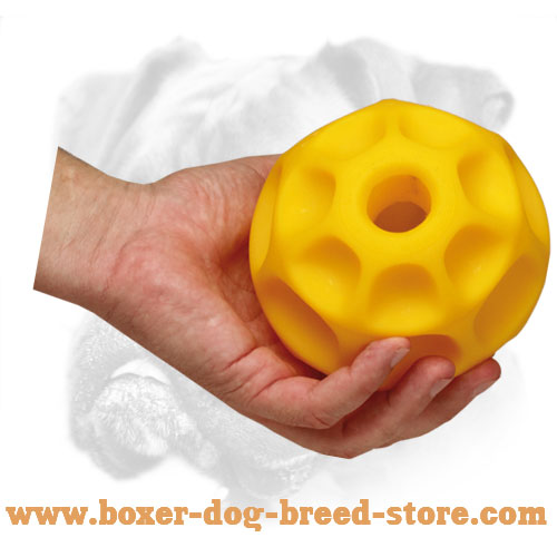 Amazing Boxer Ball for Challenging Treat Dispensing