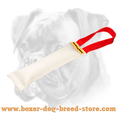 Boxer Puppy Bite Tug With a Comfy Handle