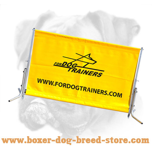 Schutzhund training jump for Boxer