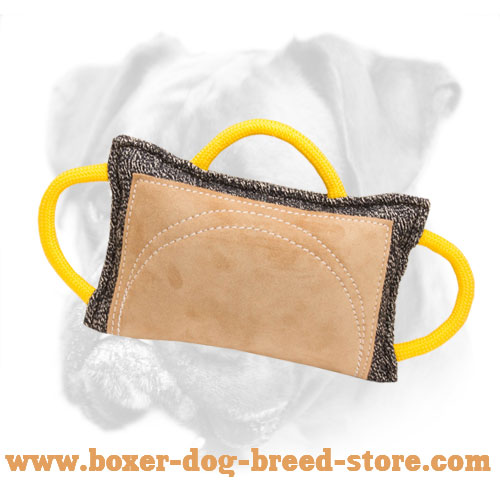 New Design French Linen and Leather Boxer Bite Pad