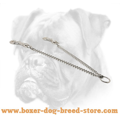Durable chrome plated coupler for walking two dogs