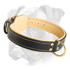 Totally comfortable leather collar