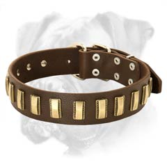 High quality leather collar