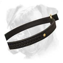 Leather choke collar of maxi comfort