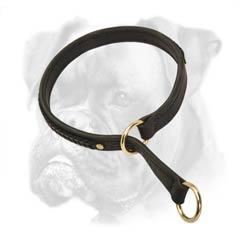 Super comfortable leather choke collar