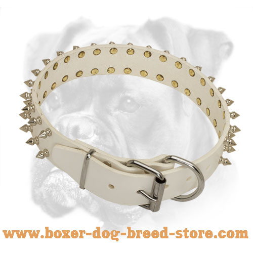 Fancy white Leather Collar