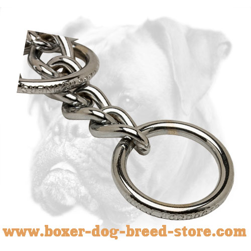 Boxer Chain Slip Collar for Walking and Training