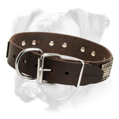 Rust proof fittings for Boxer leather collar
