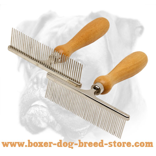 Chrome-Plated Boxer Brush With Wooden Handle
