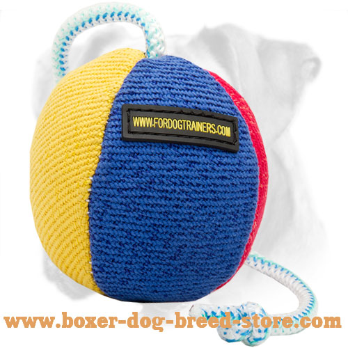 Premium Quality French Linen Ball for Boxer Breed