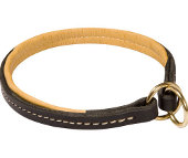 Neatly Stitched Leather Choke Collar for Boxer Breed