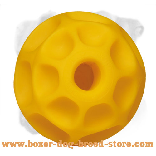 Superable Tetraflex Boxer Chewing Ball for Treat Dispensing for Large Dogs