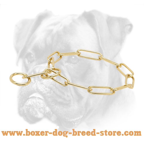 """Chain Trainer"" Boxer Fur Saver of Brass - 1/6 inch (4 mm)"